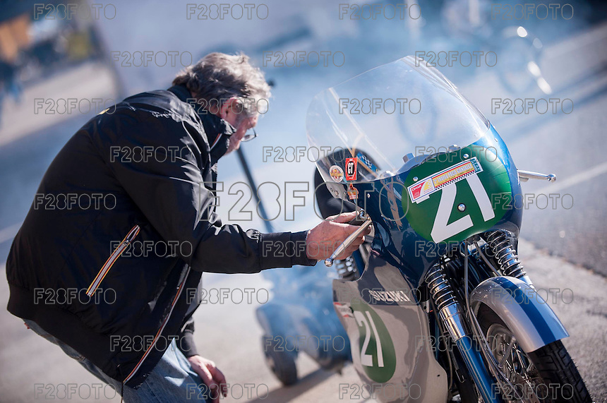 Valencia Classic & Legends 2015 with Giacomo Agostini at Ricardo Tormo Circuit in Valencia, Spain