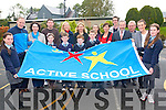 MEP Sean Kelly was on hand to to raise Kilcummin National School's Active Flag on Friday last. <br /> Front L-R Shauna O'Donoghue, Ella Rose Kehoe, Evan Murphy, Donagh Fahy, Liam Randles, Brenda Moynihan (teacher), MEP Sean Kelly and Liodain O'Connor. <br /> Back L-R Niall O'Mahony, Marguerite Dineen, Michael O'Sullivan, Gillian Sheehan, Rena O'Sullivan, Aoife Doyle, Seamus Healy, Paudie Cahill, and Fiona McSweeney.
