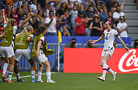 20190707 - LYON , FRANCE : American Rose Lavelle pictured celebrating her goal and the 2-0 lead during the female soccer game between The United States of America – USA-  and the Netherlands – Oranje Leeuwinnen -, the final  of the FIFA Women's  World Championship in France 2019, Sunday 7 th July 2019 at the Stade de Lyon  Stadium in Lyon  , France .  PHOTO SPORTPIX.BE | DAVID CATRY