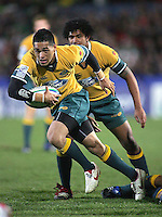 Australia on the attack during the second half of the Division A U19 World Championship clash at Ravenhill.