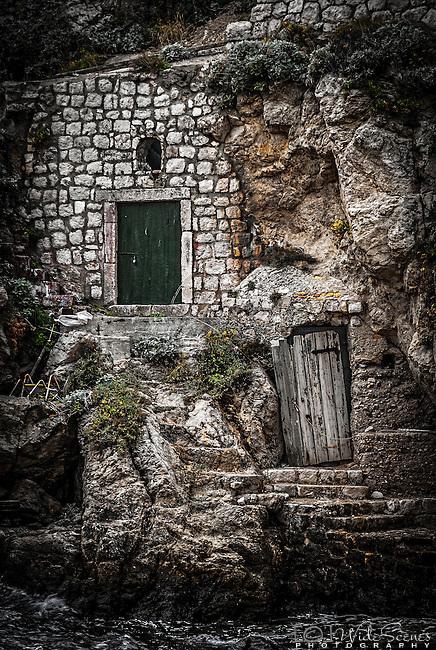 Two doors, Dubrovnik, Croatia