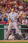 22 August 2015: Milwaukee Brewers outfielder Ryan Braun in action against the Washington Nationals at Nationals Park in Washington, DC. The Nationals defeated the Brewers 6-1 in the second game of their 3-game weekend series. Mandatory Credit: Ed Wolfstein Photo *** RAW (NEF) Image File Available ***