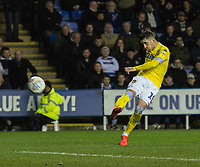 Leeds United's Pablo Hernandez strikes the ball at the Reading goal<br /> <br /> Photographer David Horton/CameraSport<br /> <br /> The EFL Sky Bet Championship - Reading v Leeds United - Tuesday 12th March 2019 - Madejski Stadium - Reading<br /> <br /> World Copyright &copy; 2019 CameraSport. All rights reserved. 43 Linden Ave. Countesthorpe. Leicester. England. LE8 5PG - Tel: +44 (0) 116 277 4147 - admin@camerasport.com - www.camerasport.com