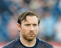 FOXBOROUGH, MA - JUNE 29: Tommy McNamara #11 during a game between Houston Dynamo and New England Revolution at Gillette Stadium on June 29, 2019 in Foxborough, Massachusetts.