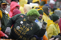 Green Bay Packers fan Gang Green at the 1996-97 NFC Divisional Playoff game against the San Francisco 49ers at Lambeau Field on January 4, 1997. The Packers won the contest 35-14.