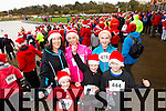 Marion O'Connor, Grace O'Connor, Eleanor Stack Carla Stack Leona Stack and Alan O'Connor,  pictured at the Santa 5k run which took place at Tralee Wetlands Centre on Sunday.
