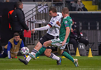 Lukas Klostermann (Deutschland Germany) gegen Shane Ferguson (Nordirland, Northern Ireland) - 19.11.2019: Deutschland vs. Nordirland, Commerzbank Arena Frankfurt, EM-Qualifikation DISCLAIMER: DFB regulations prohibit any use of photographs as image sequences and/or quasi-video.