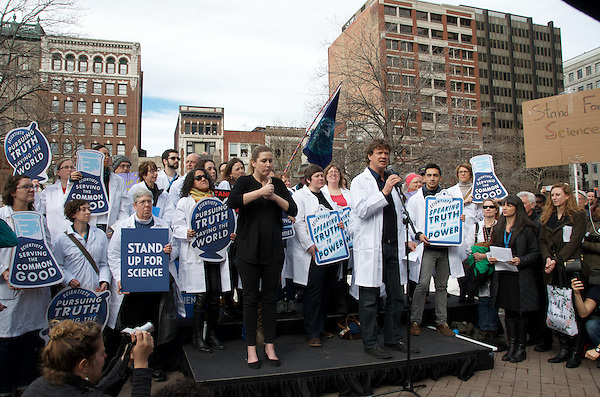 Daniel Faber, Ph.D., Professor of Sociology at Northeastern University and Director of the Northeastern Environmental Justice ResearchCollaborative (NEJRC) speaking at Stand up for Science Rally at Copley Square Boston MA 2.19.17