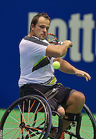 Rotterdam, Netherlands, December 20, 2015,  Topsport Centrum, Lotto NK Tennis, Final mens wheelchair Tom Egberink (NED)<br /> Photo: Tennisimages/Henk Koster