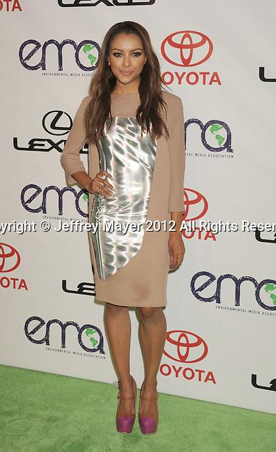 BURBANK, CA - SEPTEMBER 29: Kat Graham arrives at the 2012 Environmental Media Awards at Warner Bros. Studios on September 29, 2012 in Burbank, California.