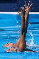 USA United States MAY Bill SPENDLOVE Kanako Kitao bronze medal<br /> Synchronised swimming , Synchro<br /> mixed duet tecnhical final<br /> 17/07/2017 <br /> XVII FINA World Championships Aquatics<br /> City Park - Varosliget Lake<br /> Photo @ Giorgio Perottino/Deepbluemedia/Insidefoto