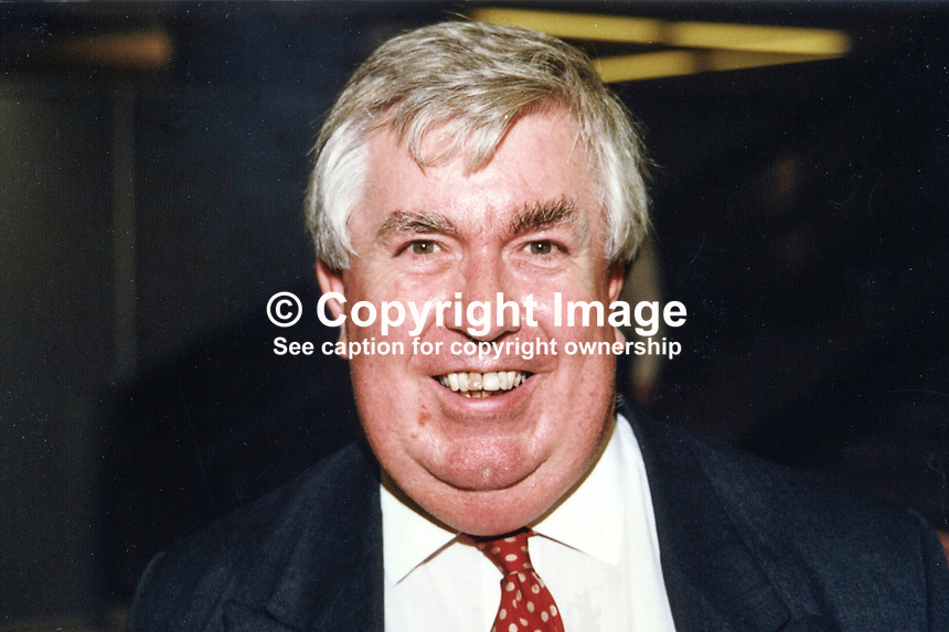 Jack Allen, prominent member, Ulster Unionist party, Londonderry, N Ireland, UK, 19971001/JA..Copyright Image from Victor Patterson, 54 Dorchester Park, Belfast, UK, BT9 6RJ..Tel: +44 28 9066 1296.Mob: +44 7802 353836.Voicemail +44 20 8816 7153.Skype: victorpattersonbelfast.Email: victorpatterson@mac.com.Email: victorpatterson@ireland.com (back-up)..IMPORTANT: If you wish to use this image or any other of my images please go to www.victorpatterson.com and click on the Terms & Conditions. Then contact me by email or phone with the reference number(s) of the image(s) concerned.