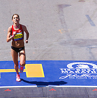 Kara Goucher ran 2:24:52 at the 115th. running of the Boston Marathon to finish 5th.  place on Monday, April 18th. 2011. Photo by Errol Anderson