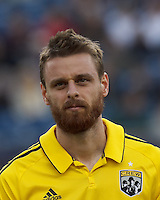 Columbus Crew forward Eddie Gaven (12). In a Major League Soccer (MLS) match, the New England Revolution tied the Columbus Crew, 0-0, at Gillette Stadium on June 16, 2012.