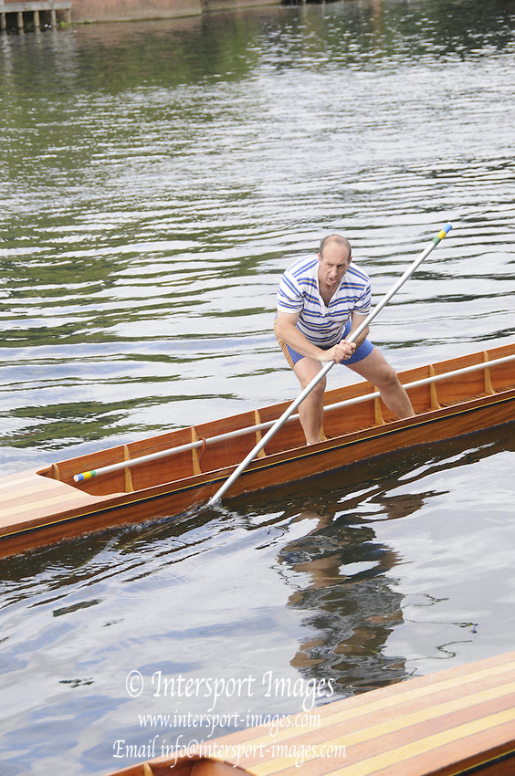 Maidenhead. Great Britain. Thames Punting Club Regatta. River Thames, Bray Reach. Sunday  14/08/2011   [Mandatory credit: Peter Spurrier Intersport Images]