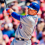 5 April 2018: New York Mets outfielder Jay Bruce hits a grand slam in the 7th inning against the Washington Nationals during the Nationals' Home Opener at Nationals Park in Washington, DC. The Mets defeated the Nationals 8-2 in the first game of their 3-game series. Mandatory Credit: Ed Wolfstein Photo *** RAW (NEF) Image File Available ***