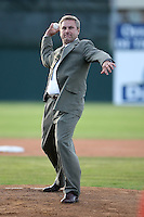 June 18th 2008:  Brian Paris during opening ceremonies for the Batavia Muckdogs at Dwyer Stadium in Batavia, NY.  Photo by:  Mike Janes/Four Seam Images