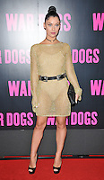 Cally Jane Beech at the &quot;War Dogs&quot; gala film screening, Picturehouse Central, Corner of Shaftesbury Avenue &amp; Great Windmill Street, London, England, UK, on Thursday 11 August 2016.<br /> <br /> &copy;CAN/Capital Pictures / MediaPunch  ** USA and South America ONLY**