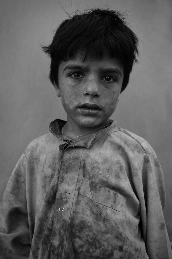 Said Ulah, 4 - child of Afghan Mangal refugees, born in Pakistan, living now in Afghanistan's eastern Khost Province on Sunday Oct. 5, 2008.