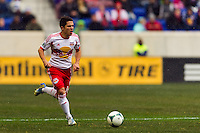 Connor Lade (16) of the New York Red Bulls. The New York Red Bulls and D. C. United played to a 0-0 tie during a Major League Soccer (MLS) match at Red Bull Arena in Harrison, NJ, on March 16, 2013.