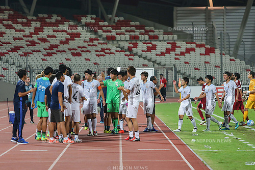 Japan team group (JPN), OCTOBER 20, 2016 - Football / Soccer : Players of Japan celebrate after winning the AFC U-19 Championship Bahrain 2016 Group C match between Qatar 0-3 Japan at Bahrain National Stadium in Riffa, Bahrain. (Photo by AFLO)