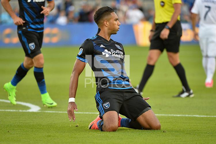 San Jose, CA - Saturday June 24, 2017: Danny Hoesen during a Major League Soccer (MLS) match between the San Jose Earthquakes and Real Salt Lake at Avaya Stadium.