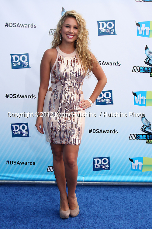 Los Angeles - AUG 19:  Haley Reinhart arrives at the 2012 Do Something Awards at Barker Hanger on August 19, 2012 in Santa Monica, CA