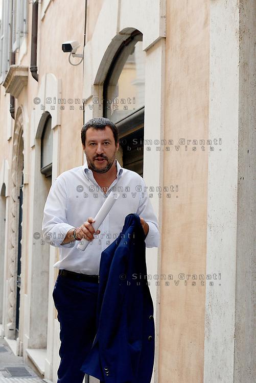 Roma, 6 Settembre 2017<br /> Conferenza stampa di Matteo Salvini a Montecitorio
