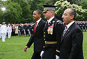 19 May 2010 - Washington, DC - President Barack Obama and the First Lady Michelle Obama welcome President Felipe CalderÛn of Mexico and his wife Margarita Zavala to the White House.  The official arrival ceremony took place on the South Lawn of the White House.  After scheduled meetings between the two leaders they will hold a press conference in the Rose Garden.  The evening events planned are a North Portico arrival followed by a State Dinner and tented reception on the South Lawn.  Photo Credit:  Gary Fabiano/Sipa Press.Credit: Gary Fabiano / Pool via CNP