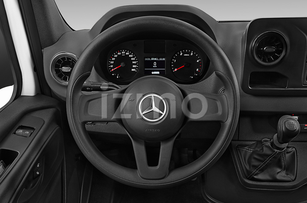 Car pictures of steering wheel view of a 2019 Mercedes Benz Sprinter Cargo Van Base 4 Door Cargo Van