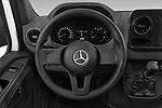 Car pictures of steering wheel view of a 2019 Mercedes Benz Sprinter Cargo Van Base 4 Door Cargo Van