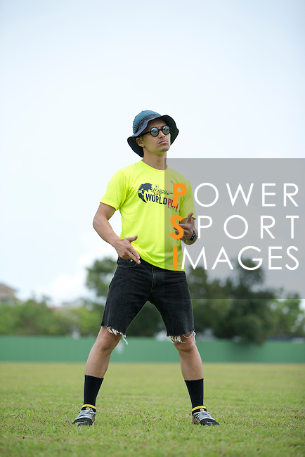 Wings for Life Ambassador and Creative Director Elmo Tai poses for a photograph during the Wings for Life World Run on 08 May, 2016 in Yilan, Taiwan. Photo by Victor Fraile / Power Sport Images