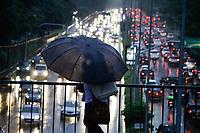 08.04.2019 - Trânsito na avenida 23 de Maio em SP