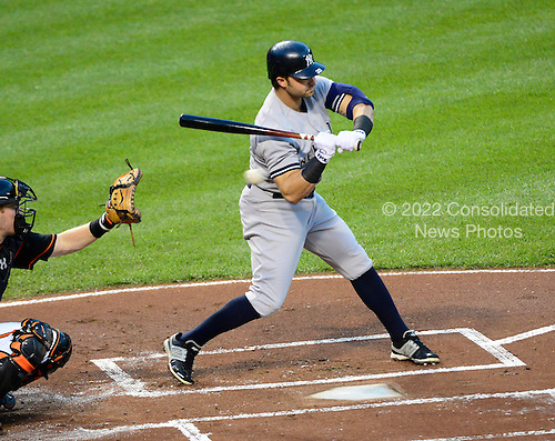 New York Yankees right fielder Nick Swisher (33) takes a ball as he bats in the first inning against the Baltimore Orioles at Oriole Park at Camden Yards in Baltimore, MD on Friday, September 7, 2012..Credit: Ron Sachs / CNP.(RESTRICTION: NO New York or New Jersey Newspapers or newspapers within a 75 mile radius of New York City)