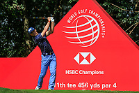 Billy Horschel (USA) on the 11th tee during round 1 at the WGC HSBC Champions, Sheshan Golf Club, Shanghai, China. 31/10/2019.<br /> Picture Fran Caffrey / Golffile.ie<br /> <br /> All photo usage must carry mandatory copyright credit (© Golffile | Fran Caffrey)