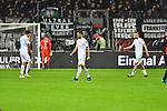 06.10.2019, Commerzbankarena, Frankfurt, GER, 1. FBL, Eintracht Frankfurt vs. SV Werder Bremen, <br /> <br /> DFL REGULATIONS PROHIBIT ANY USE OF PHOTOGRAPHS AS IMAGE SEQUENCES AND/OR QUASI-VIDEO.<br /> <br /> im Bild: Frust bei Milos Veljkovic (SV Werder Bremen #13), Nuri Sahin (SV Werder Bremen #17) und Christian Groß / Gross (SV Werder Bremen #36)<br /> <br /> Foto © nordphoto / Fabisch
