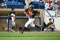 Wilmington Blue Rocks third baseman Wander Franco (11) running the bases during a game against the Lynchburg Hillcats on June 3, 2016 at Judy Johnson Field at Daniel S. Frawley Stadium in Wilmington, Delaware.  Lynchburg defeated Wilmington 16-11 in ten innings.  (Mike Janes/Four Seam Images)
