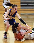Clarkston vs Birmingham Marian at Waterford Kettering, Girls Varsity Basketball, 3/7/13