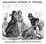 "Melancholy Reverse of Fortune. ""Poor sweeper, ladies! Railway Director, once, ladies!"""