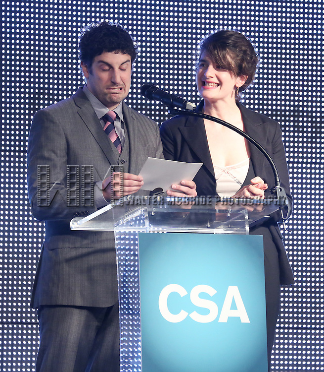 Jason Biggs and Gaby Hoffmann during the 30th Annual Artios Awards Presentation at 42 WEST on January 22, 2015 in New York City.