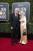 Nominee Alan Arkin and  attend the 76th Annual Golden Globe Awards at the Beverly Hilton in Beverly Hills, CA on Sunday, January 6, 2019.<br /> *Editorial Use Only*<br /> CAP/PLF/HFPA<br /> Image supplied by Capital Pictures