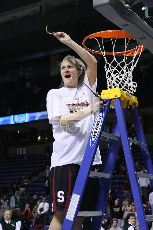 31 March 2008: Jillian Harmon during Stanford's 98-87 win over the University of Maryland in the elite eight game of the NCAA Division 1 Women's Basketball Championship in Spokane, WA.