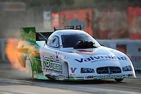 Jan. 17, 2012; Jupiter, FL, USA: NHRA funny car driver Jack Beckman during testing at the PRO Winter Warmup at Palm Beach International Raceway. Mandatory Credit: Mark J. Rebilas-