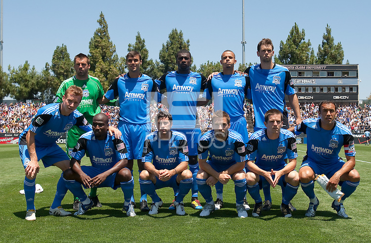 San Jose Earthquakes Starting Eleven. San Jose Earthquakes tied  Tottenham Hotspur 0-0 at Buck Shaw Stadium in Santa Clara, California on July 17th, 2010.