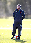 Ally McCoist laughing in the rain