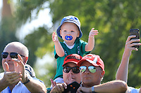 Young fan on on the 1st tee during the third round of the DP World Championship, Earth Course, Jumeirah Golf Estates, Dubai, UAE. 23/11/2019<br /> Picture: Golffile | Phil INGLIS<br /> <br /> <br /> All photo usage must carry mandatory copyright credit (© Golffile | Phil INGLIS)
