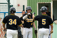 21 May 2009: Stevie Barett of Clermont-Ferrand celebrates with teammates during the 2009 challenge de France, a tournament with the best French baseball teams - all eight elite league clubs - to determine a spot in the European Cup next year, at Montpellier, France.