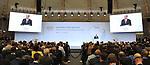 Egyptian President Abdel Fattah al-Sisi speaks at the G20 Africa partnership conference in Berlin on June 12, 2017. Photo by Egyptian President Office