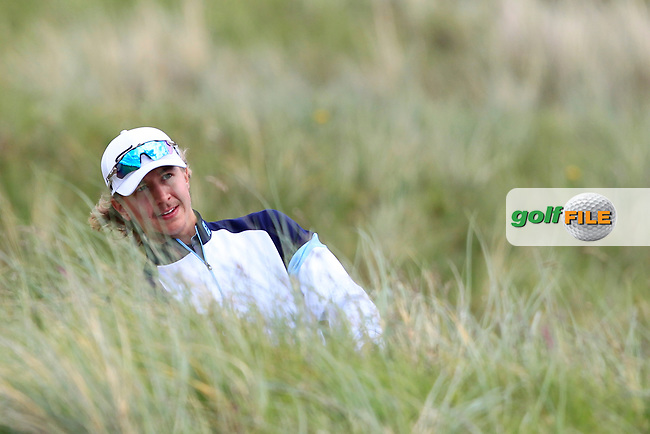 Santeri Lehesmaa (FIN) on the 4th during Round 1 of the The Amateur Championship 2019 at The Island Golf Club, Co. Dublin on Monday 17th June 2019.<br /> Picture:  Thos Caffrey / Golffile<br /> <br /> All photo usage must carry mandatory copyright credit (© Golffile | Thos Caffrey)