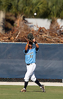 SCF Manatees outfielder Bryant Elliott #11 during a game vs. Indian River State College at Robert C. Wynn Field in Bradenton, Florida;  February 22, 2011.  SCF defeated Indian River 3-0.  Photo By Mike Janes/Four Seam Images